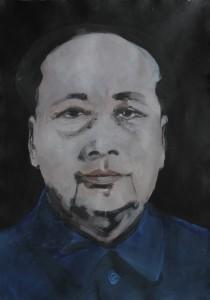 Mao, olio su carta, cm 100 x 70, 2009
