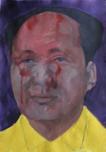 Mao, olio su carta cm 100 x 70. 2009