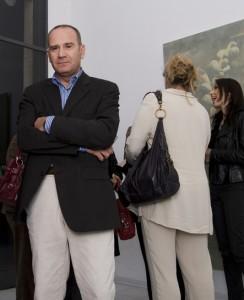 Angelo Barone all'inaugurazione della sua mostra (05/09)