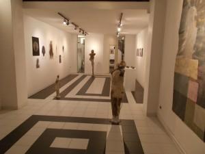 """Veduta della mostra  di Michele Ciacciofera """"Odio gli indifferenti"""" (11/2015)"""
