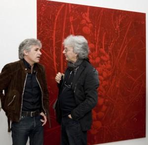 Gli artisti Enzo Rovella e Antonio Recca alla mostra di Barone (05/09)