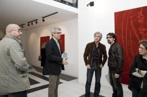 Gli atrtisti Inzinga, Bongiorno, Rovella, Roccasalvo e Viglianisi alla mostra di Barone (05/09)
