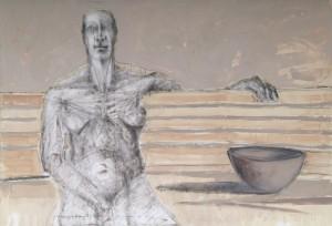 Attesa, olio su tela, cm 110 x 145, 2006