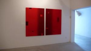 Dall'interno, dittico, tecnica mista su tela, cm 120x100x4 (cad.), 2009