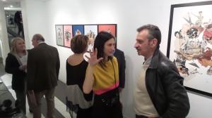 inaugurazione della mostra Miramorphoses di Valentina Mir - aprile 2015