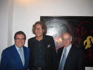 Rotelli con Enzo Bianco e Vincenzo Sanfo all'inaugurazione della sua mostra