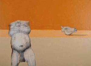 Corpocranio, olio su tela, cm 110 x 150, 2008