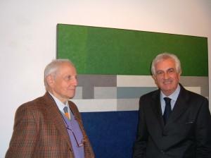 Il prof. Crispolti e Francesco Rovella