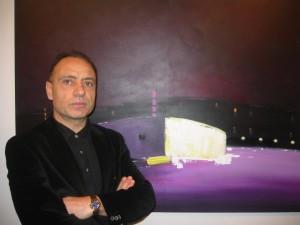 Domenico David all'inaugurazione della sua mostra (02/2010)