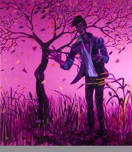 Fermare il vento, 2009, olio su tela, cm 200 x 180