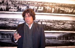Jonathan Guaitamacchi all'inaugurazione della sua mostra (10/09)
