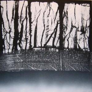 Landscape, 2007, acrilico su tela, cm 140x140