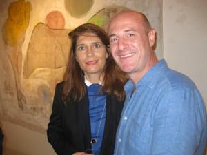 """Ciacciofera e Christine Macel alla mostra """"Odio gli indifferenti"""" (11/2015)"""