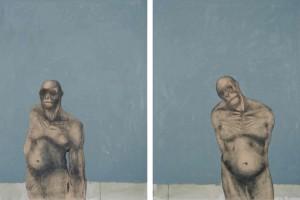 Monkey, olio su tela, cm 110 x 300, 2008