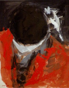 Guantanamo, olio su cartoncino, cm 33 x 26,5, 2007