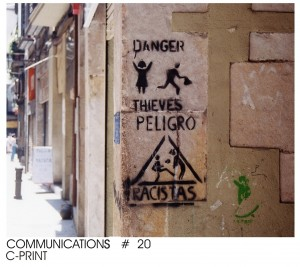 communication, series # 1, color print, 1/3, cm 20 x 30