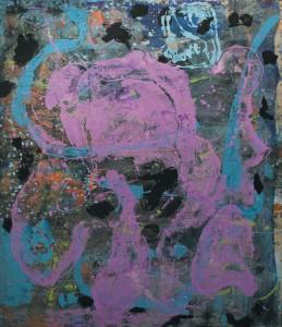 Senza titolo, olio su tela, cm 150 x130, 2007