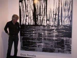 Enzo Rovella al Catania Arte Fiera, 2008