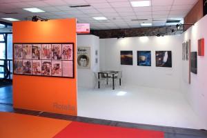 Stand della Galleria Carta Bianca al CAF 2006
