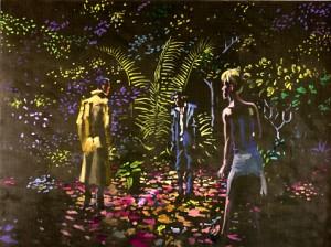 La notte, 2009, olio su tela cm 135x180